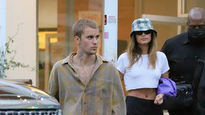 Nach Babygerüchten: Model Hailey Bieber zeigt sich bauchfrei