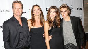 Kaia Gerber mit ihren Eltern Rande Gerber und Cindy Crawford und Bruder Presley