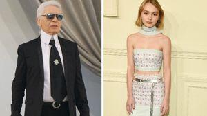 Neue Muse: Karl Lagerfeld schwärmt von Lily-Rose Depp