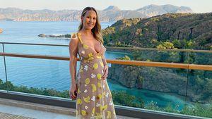 Auf Urlaubsfoto: Kate Ferdinand zeigt ihren süßen Babybauch