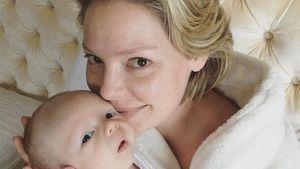 Katherine Heigl mit ihrem Baby