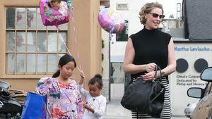 Katherine Heigl und ihre Töchter besuchen einen Kindergeburtstag in Los Angeles