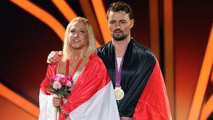 """Kathrin Menzinger und Heinrich Popow, """"Let's Dance""""-Tanzpaar"""
