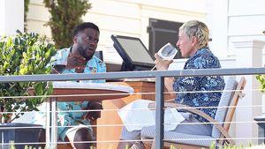 Mitten im Schlagzeilenhagel: Hier entspannt Ellen beim Essen