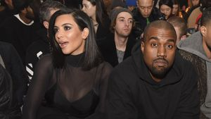 Kim Kardashian und Kanye West auf der Mercedes-Benz Fashion Week in New York