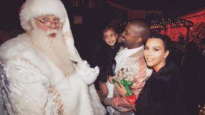Kim Kardashian, Kanye West und Tochter North an Weihnachten 2015