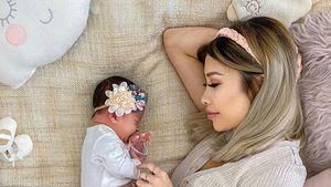 Zwei Wochen Mama: Kisu ist ganz vernarrt in ihre Tochter
