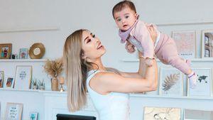 Stolze Kisu: Ihre Tochter Milena ist schon fünf Monate alt