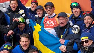 Gold-Jubel: Carl Gustaf ohne Estelle & Oscar bei Olympia