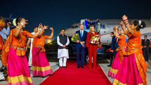 Toller Empfang: Willem-Alexander und Maxima landen in Indien