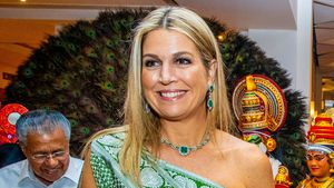 Königin Máxima überrascht in traditionellem indischen Gewand
