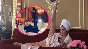 Nimm das, Kourtney! Victoria Beckham verteidigt Leg-Move