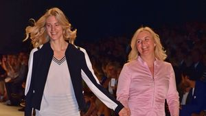 Larissa Marolt mit Mama Elke Marolt bei der Berlin Fashion Week 2016