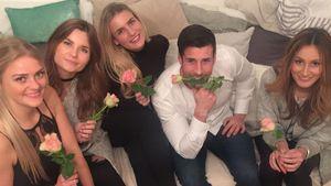 Ex-Bachelor Leonard Freier mit seinen Mädels