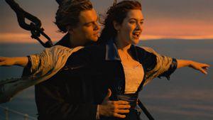 """Leonardo DiCaprio und Kate Winslet bei den Dreharbeiten zu """"Titanic"""""""