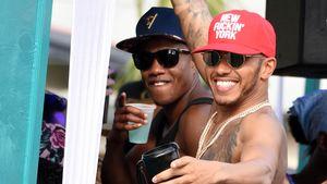 "Lewis Hamilton auf der ""Barbados Kadooment Day""-Parade"
