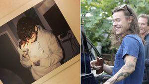 Liam Payne mit seinem Baby und Harry Styles