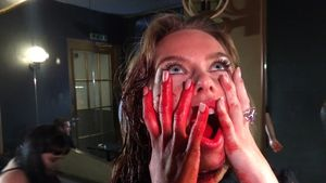 "Liliana Nova beim Dreh zu ""Blood Feast"""