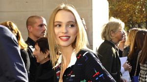 Lily-Rose Depp im Oktober 2016 bei der Fashion Week in Paris.
