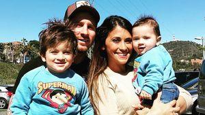 Lionel Messi, Antonella Roccuzzo und die Söhne Thiago und Mateo