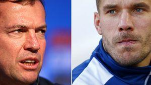 Lukas Podolski und Lothar Matthäus