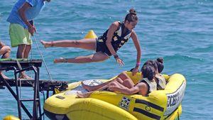 Sportlich! Hier springt Madonnas Tochter vom Steg
