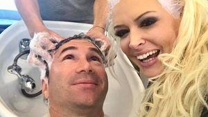 Lucas Cordalis und Daniela Katzenberger beim Friseur