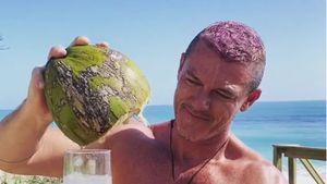 Farbenfrohes Umstyling: Luke Evans hat jetzt pinke Haare