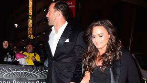 Luke Rockhold  und Demi Lovato bei ihrer Ankungt zum UFC 2015 im Madison Square Garden