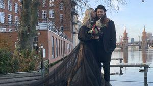 Ganz in Schwarz: GNTM-Mareike und Philipp sind verheiratet!