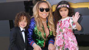 Mariah Carey mit ihren Kindern Moroccan und Monroe bei einer Filmpremiere 2017