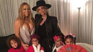 Mariah Carey mit ihren Zwillingen Moroccan und Monroe und Beyoncé mit ihrer Tochter Blue Ivy