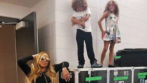Extrem-Posing: Mariah Carey und Kids setzen sich in Szene
