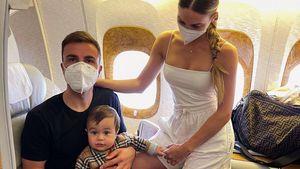 Über den Wolken: Ann-Kathrin Götze postet süßes Familienfoto