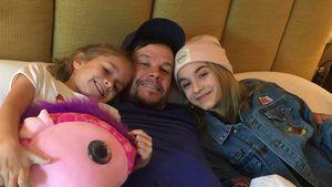 Mark Wahlberg mit seinen Töchtern Grace und Ella