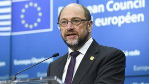 Martin Schulz bei einer Pressekonferenz zum EU-Gipfel in Brüssel 2016
