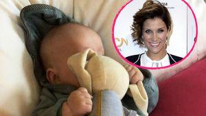 """""""Hasenliebe"""": Anna-Maria Zimmermanns Baby hat Kuschelfreund"""
