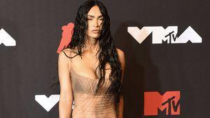 Bei MTV VMAs: Megan Fox posiert im durchsichtigen Kleid