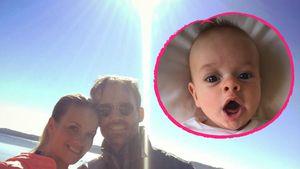Melissa und Sven Hannawald mit Sohn Glen