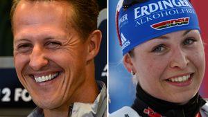 Michael Schumacher und Magdalena Neuner