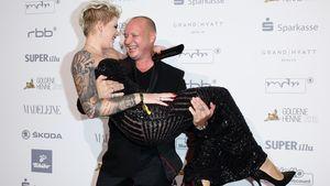 Mike Blümer und Melanie Müller bei der Goldenen Henne 2015 in Berlin
