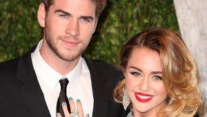 Miley Cyrus strahlt an der Seite von ihrem Liam Hemsworth