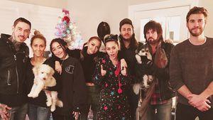 Miley Cyrus und Liam Hemsworth mit Mileys Familie