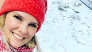 Monica Ivancan mit Söhnchen Anton im Schnee