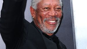 "Morgan Freeman bei der Premiere von ""The Dark Knight Rises"""