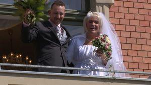 Patrick und Nadine Zucker bei ihrer Hochzeit