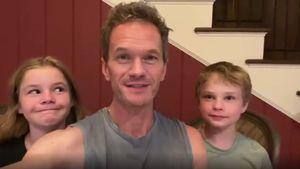 Kinder behaupten: Neil Patrick Harris ist zu oft am Handy