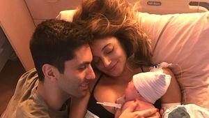 Nev Schulman mit seiner Verlobten und ihrem ersten gemeinsamen Kind