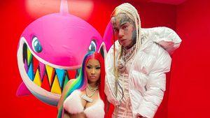 Für Feature: Nicki Minaj trägt 6ix9ines Regenbogen-Frisur!