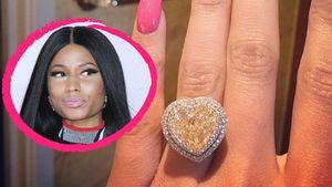 Zeigt Nicki Minaj hier etwa ihren Verlobungsring?